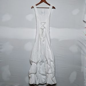 Le Chateau White Ruffled Formal Gown